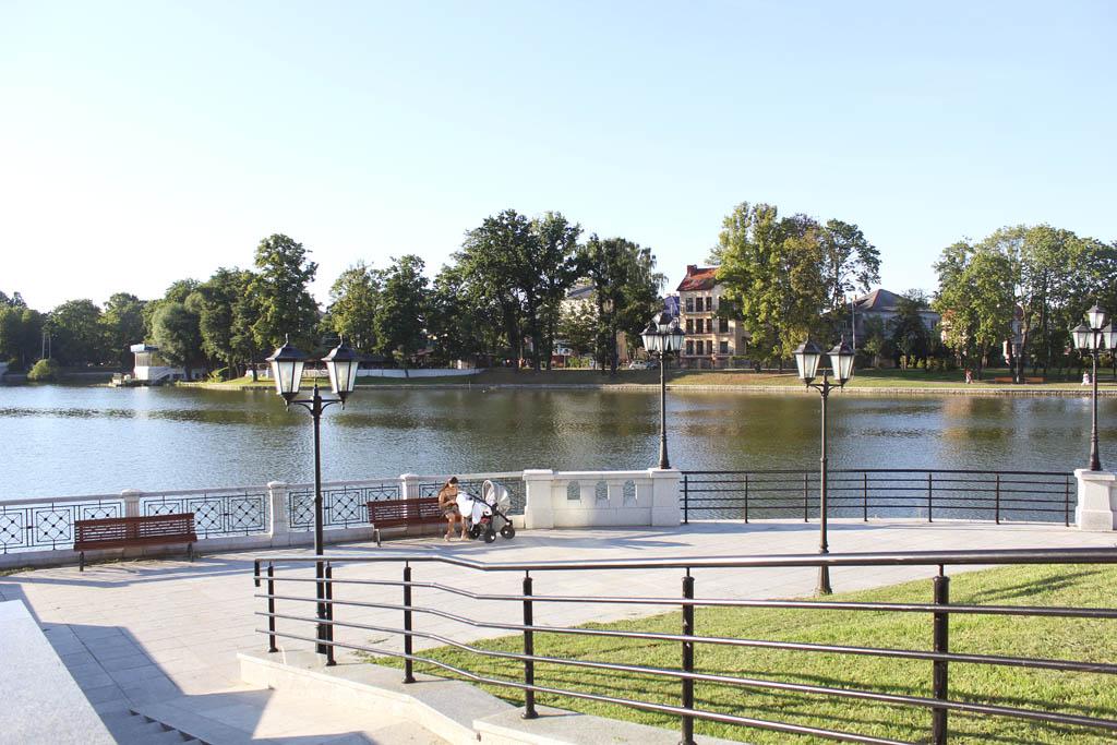 Фото Верхнего озера в Калининграде