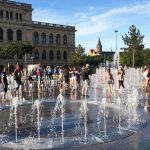 Поющий фонтан в Биржевом сквере