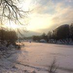 Зимний пейза на Нижнем пруду